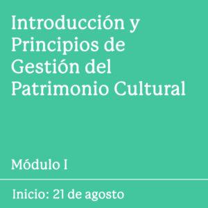 modulo I introducción y principios de gestión del patrimonio cultural factor cultura peru